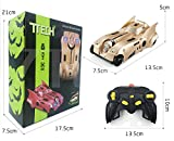 7TECH Wall Climber RC Car Infrared Sensors Remote Control Wall climbing 360 ° stunt car Toys for Kids Golden
