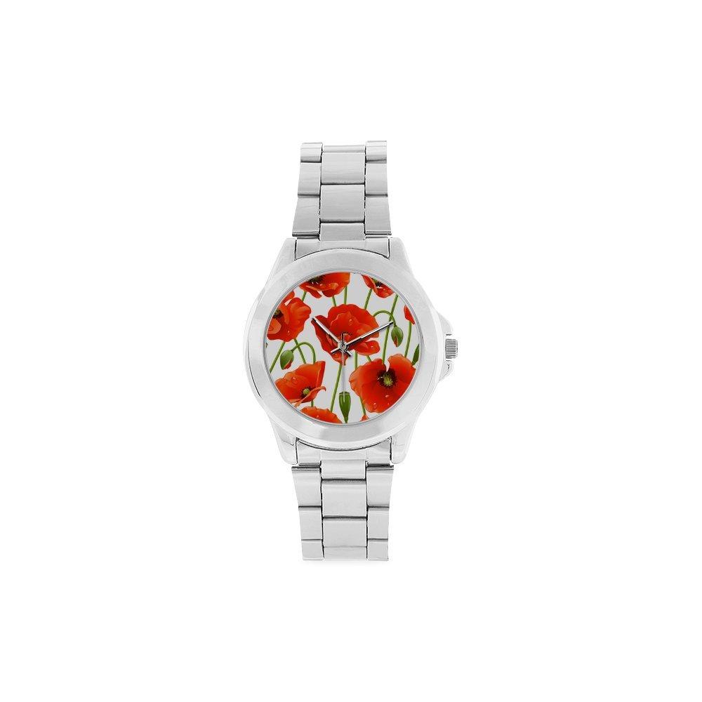 Poppy Flower Watch SPORTING_GOODS ボーイズ ガールズ レディース メンズ   B017NM4DIC