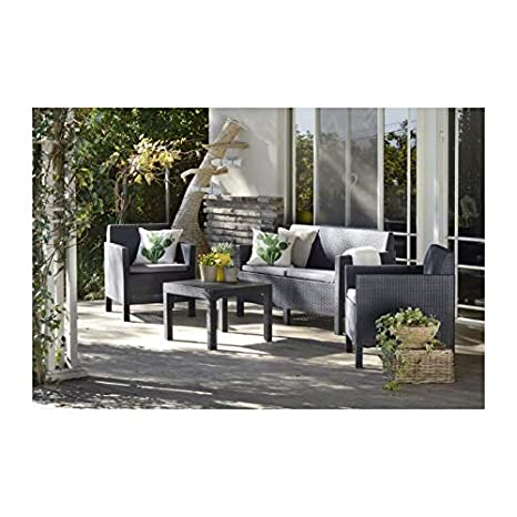 ALLIBERT Salon de Jardin modulable Houston - 4 Places - en ...