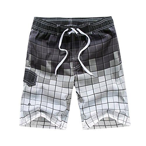 Ophestin Mens Quick Dry Swim Trunks, Grey, XXX-Large