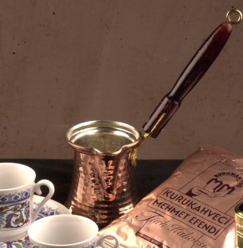 The Turkish Emporium Cazo de Cobre para café Turco con Mango de ...