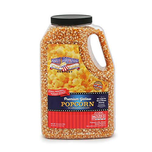 4195 Great Northern Popcorn Premium Yellow Gourmet Popcorn, 12 Pound Jug