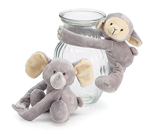 Burton & Burton Plush Lamb Elephant Vase Hugger Set