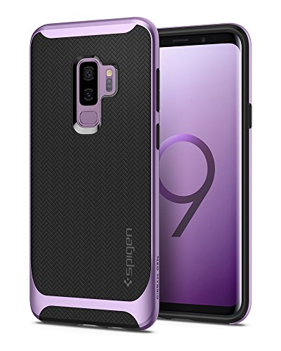 Spigen Neo Hybrid Galaxy S9 Plus Case with Flexible Herringbone Pattern Protection and Reinforced Hard Bumper Frame for Samsung Galaxy S9 Plus (2018) - Lilac Purple