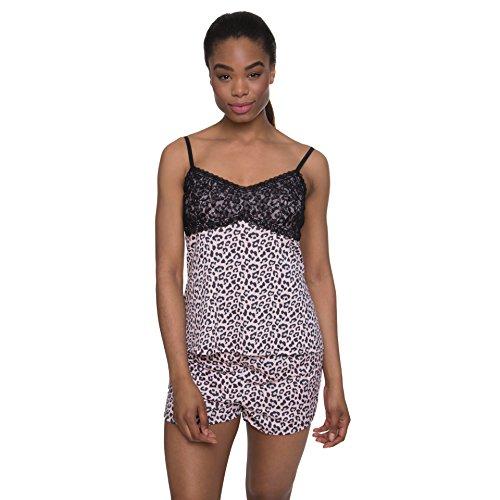 Nanette Nanette Lepore Women's Pajama Sleepwear Cami Camisole Tank Top and Shorts Set Light Pink Medium