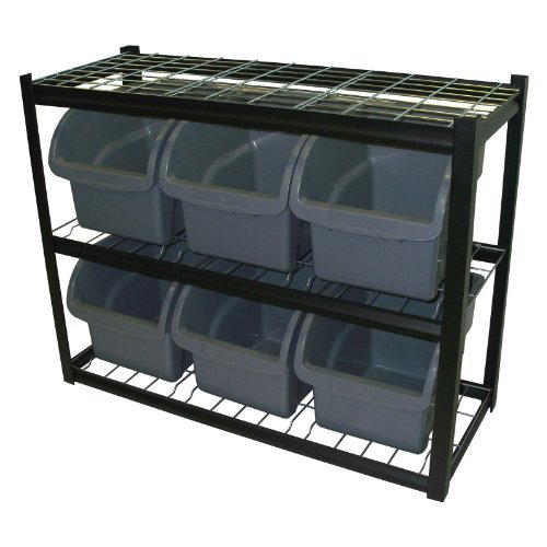 Edsal 6-Bin Shelf Unit, Model# IBU301642