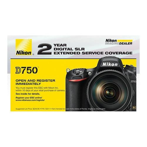 Nikon 2-Year Extended Service Coverage for D750 DSLR Camera by Nikon