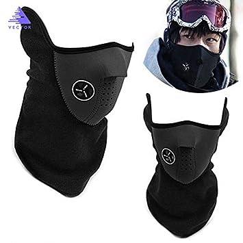 La mitad de la cara máscara invierno deporte máscara cortavientos para bicicleta Ciclismo Máscara esquí baberos para esquí y snowboard al aire libre máscaras Swinging Vine