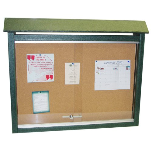Medium One-Sided Message Center w/ No Post - Green [Office Product] by Frog Furnishings