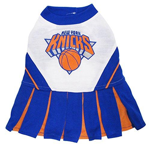 Pets First NBA New York Knicks Dog Cheerleader Dress, Small]()