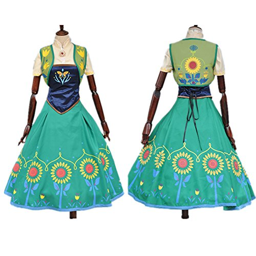 Starkma 2015 Anna Princess Sunflower Dress Costumes for Adult (S)