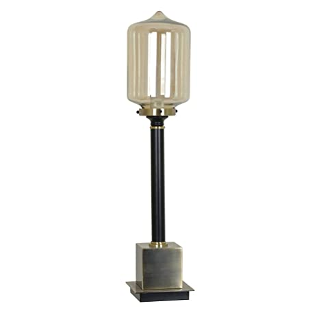 Sylvan Black Metal And Glass Table Lamp 30 1/2 Inches Tall