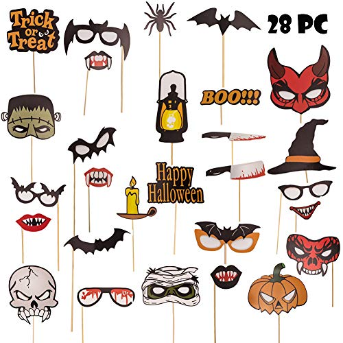 Halloween Photo Booth Props 28Pcs for Halloween -