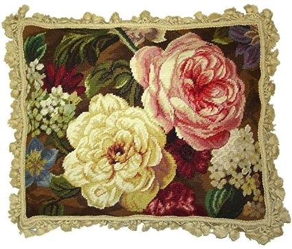 Amazon.com: Deluxe Almohadas Rosa y Blanco Extravaganza – 18 ...