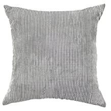 Square/Rectangle Solid Pinkycolor Printed Cushion Cover ChezMax Corduroy Plaid Throw Pillow Case Sham Slipover Pillowslip Pillowcase For Adults Senior Men Women Bedroom