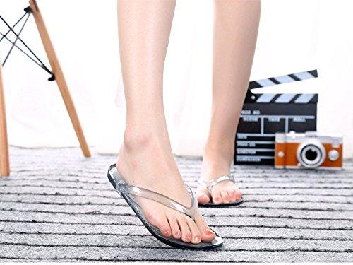 black Pantofole lastra Piedi Trasparente plastica bagno YUN cristallo Sandali MY in Slip Ms Pantofola la Pantaloncini GIRL per interni Transparent estiva trasparente Trasparente da casa StSpqnUOT