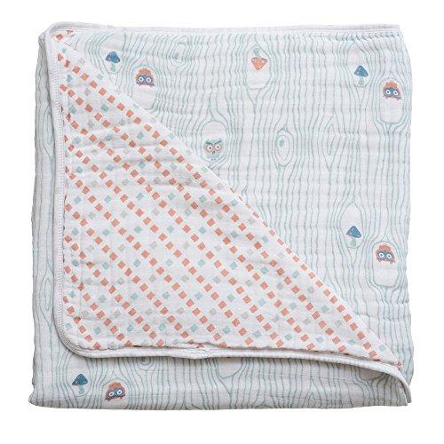 (Bebe au Lait Premium Muslin Snuggle Blanket, Little Owl and Tinsley)