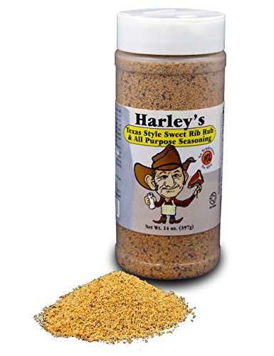 Harley's Sweet Rib Rub Texas Seasoning | No MSG All Purpose Sweet BBQ Seasoning Perfect for Seasoning Everything From Meat to Seafood.