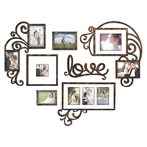 Hello Laura Heart Shape - Made to Display Three 4x6 Photos - Ready to Hang or Stand with Built in Easel