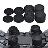 YoRHa Professional Thumb Grips Thumbstick Joystick Cap Cover (black) Extra High 8 Units Pack for PS4, Switch PRO, PS3, Xbox 360, Wii U tablet, PS2 controller