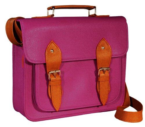 # gb0001l # bolso mano Vintage Satchel Bag hombro bolso de piel sintética PURPLE/Plum