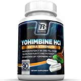 BRI Nutrition Yohimbine HCI - 2.5mg Yohimbe HCL Supplement Natural Metabolism Booster for Fat Burning, Weight Loss and Sexual Performance 90 Veggie Capsules