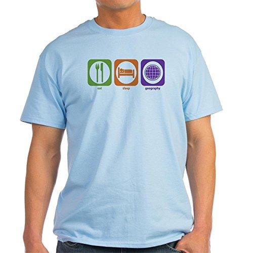 CafePress Eat Sleep Geography Ash Grey T-Shirt 100% Cotton T-Shirt