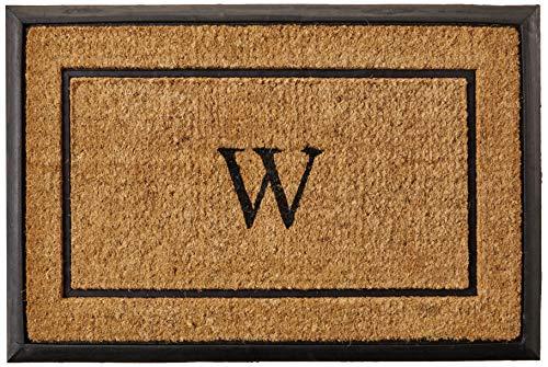 Calloway Mills Home & More 101632436W The General Monogram Doormat, Letter W