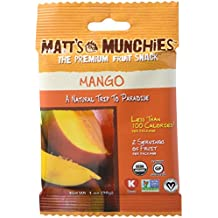 Matt's Munchies Organic Fruit Snack (1-Ounce Bag), Mango, 12 Pack