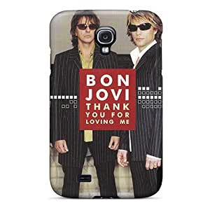Anti-Scratch Hard Cell-phone Cases For Samsung Galaxy S4 (mNA5939AZBs) Provide Private Custom HD Bon Jovi Image