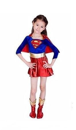 f2651209758eb Livre pour enfants Supergirl Superhero Day Halloween Costume de déguisement  Tenue de 10-12 ans
