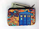 TV Programme Blue Phone Box Printed Design Coin Purse Change Holder by Smarter Designs