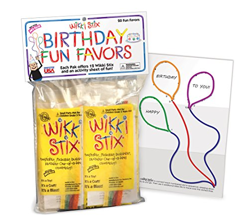 (WikkiStix Birthday Fun Favors, Pack of 20 Molding & Sculpting)