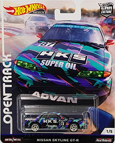 Hot Wheels car Culture Premium, Open Track Nissan Skyline GT-R 1/5