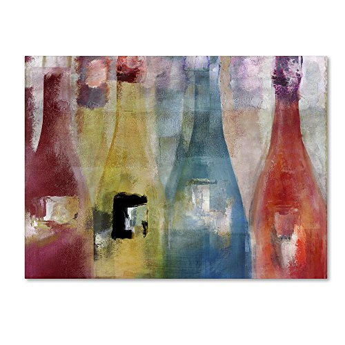 Bouteilles II by Color Bakery, Colorful Wine Canvas Wall Art