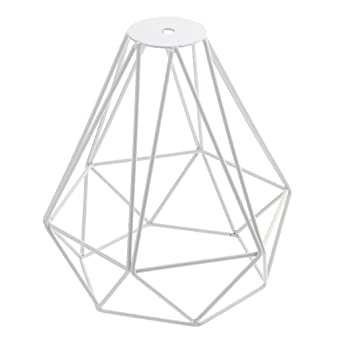 Jaula Lámpara de Techo Luz Bulbo Colgante de Loft Diamante de ...