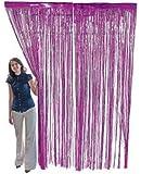 Super Z Outlet 3.2 ft x 9.8 ft Metallic Tinsel Foil Fringe Curtains for Party Photo Backdrop Wedding Decor (Light Purple)