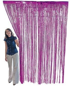 Price comparison product image Metallic Foil Fringe Shiny Curtains for Party, Prom, Birthday, Event Decorations 3 ft x 8 ft (1 Curtain)