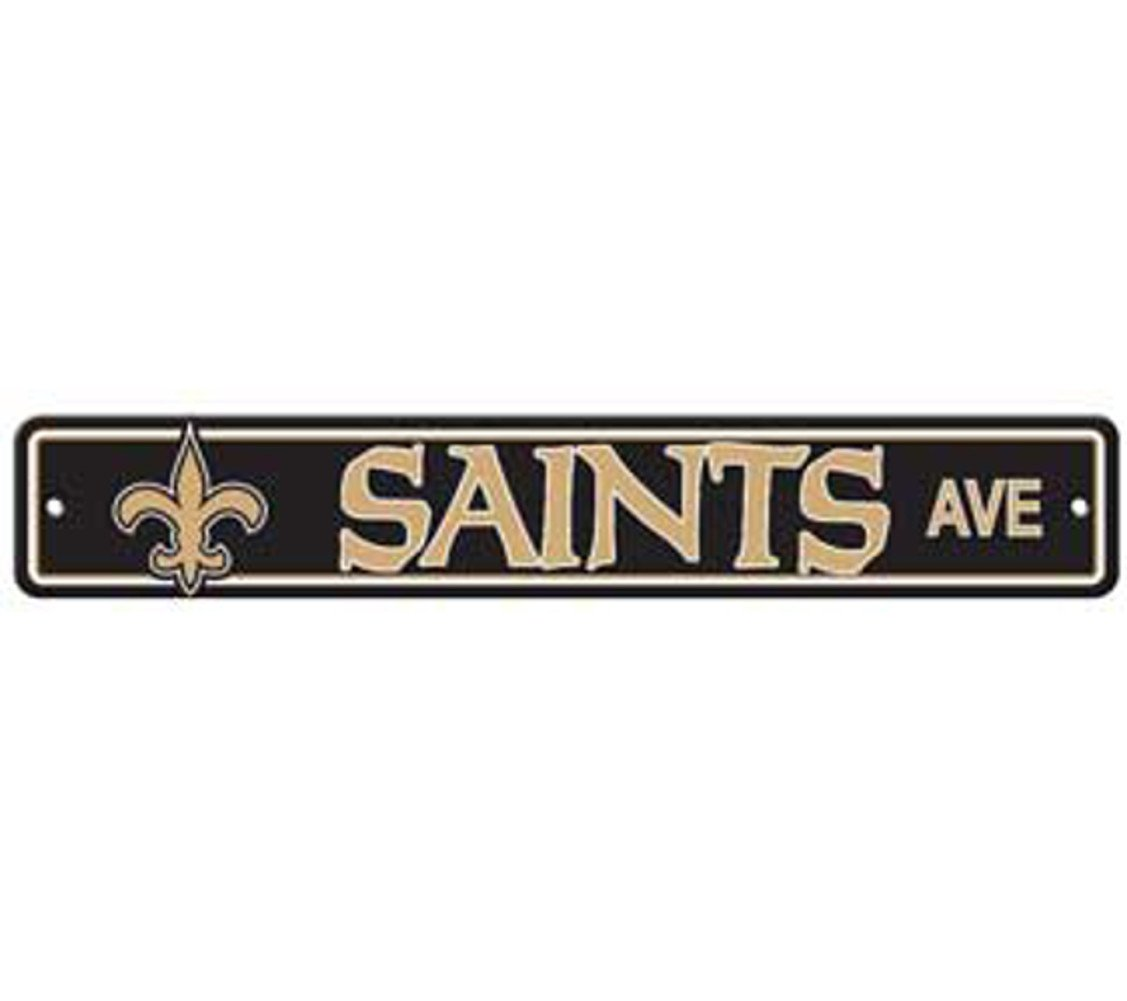 New Orleans Saints Ave Street Sign 4x24