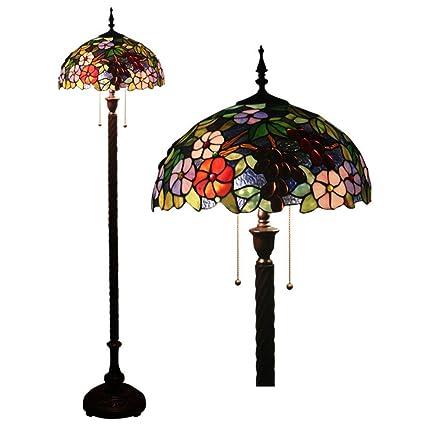 Lámpara de pie Estilo Tiffany, Lámparas de pie de vitral de ...