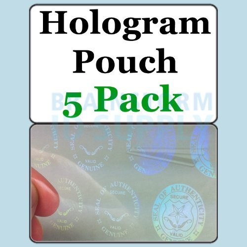 Seal and Key ID Hologram Butterfly Pouches - 5 Pack