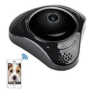 Wifi Security Camera,Wireless 360 HD Panoramic Night Vision for Baby Pet Monitoring by LuluC