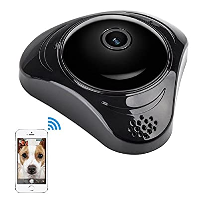 Home wifi security camera, wireless IP Surveillance 360 HD panoramic Night Vision for Baby Pet Monitoring by LuluC