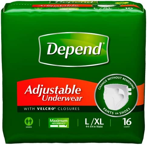 Depend Adjustable Underwear 16 Count Packages product image