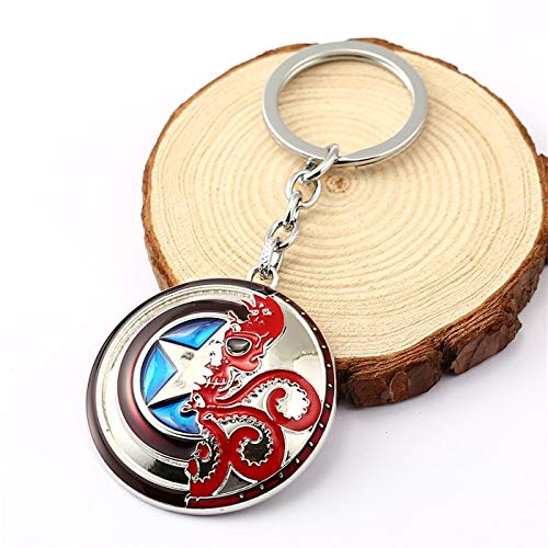 Amazon.com: The Avengers Captain America Keychain Hydra Logo ...