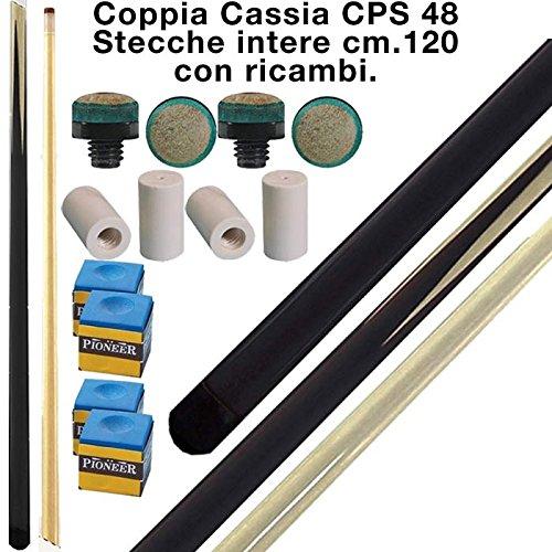longoni CPS Cassia 48 coppia stecche intere cm.120 per biliardo tutte le discipline con ricambi e omaggio