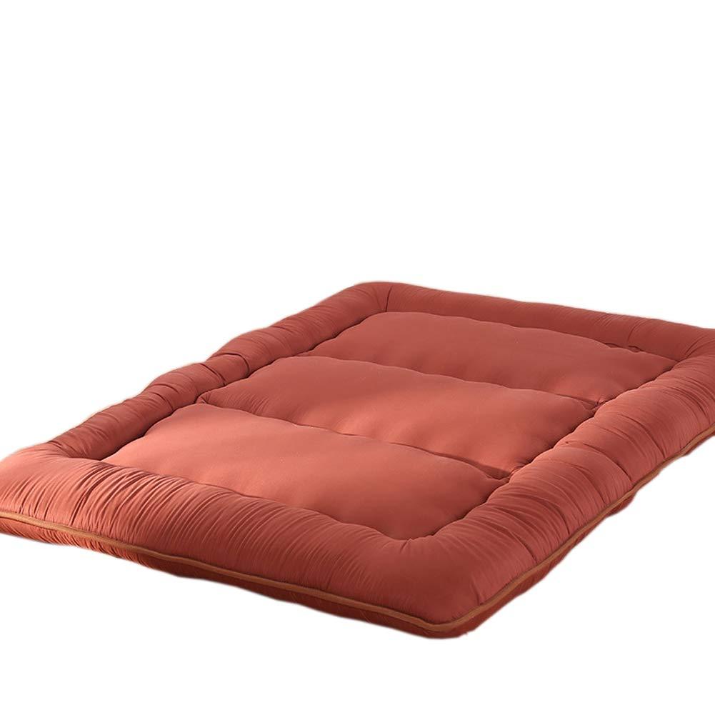 Brown 200220cm Futon Mattresses Queen Size Floor Futon Mattresses, Foldable Cushion Mats, Sleeping Pad, Tatami Mat, Japanese Bed Roll, Foldable Roll Up Mattress, Futon Memory Foam, Rolling Bed Shikibuton,bluee,180200cm