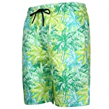 NUWFOR Men's Summer Fashion 3D Printed Shorts Recreational Sports Beach Pants(Green,US M Waist:34.25'')