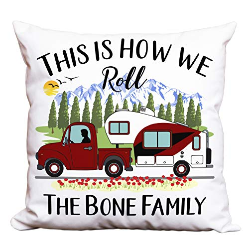 Personalized Camping Pillow made our list of Over 100 Ideas For This Holiday Season For Christmas Gifts For Campers And RV Owners!