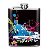 vector mini fridge - Colorful Vector Shoe Stainless Steel Hip Flask 100% Leak Proof Wine Bottles Classic Flask Fashion Ideal Gift For Men Women,7 Oz